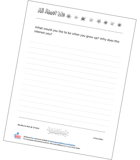 What Do You Want to Be When You Grow Up Free Printable Sample Image