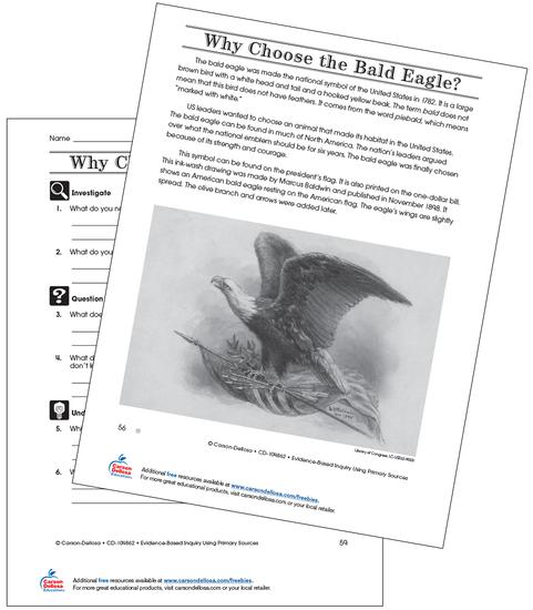 Why Choose the Bald Eagle Grade 4 (Below Grade Level) Free Printable Worksheet