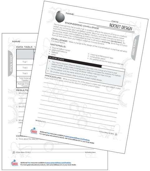 Rocket Design Challenge Grades 3-4 Free Printable Activity