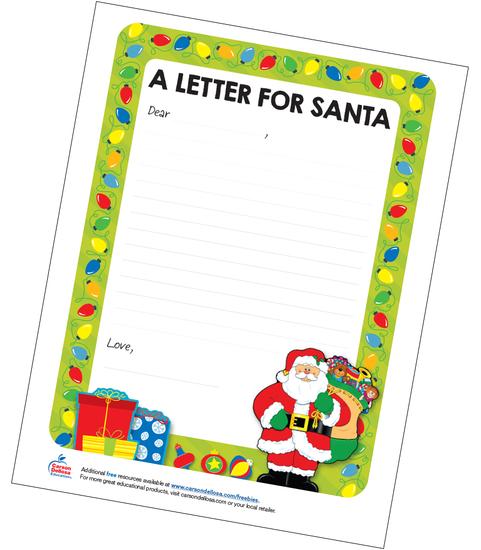 A Letter For Santa Grades K-3 Free Printable Resource