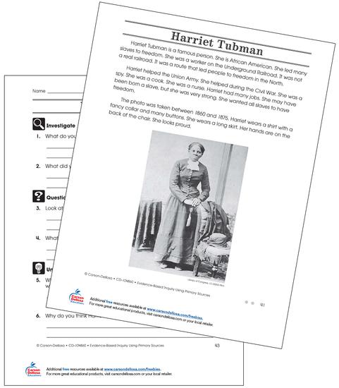 Harriet Tubman (On Grade Level) Free Printable