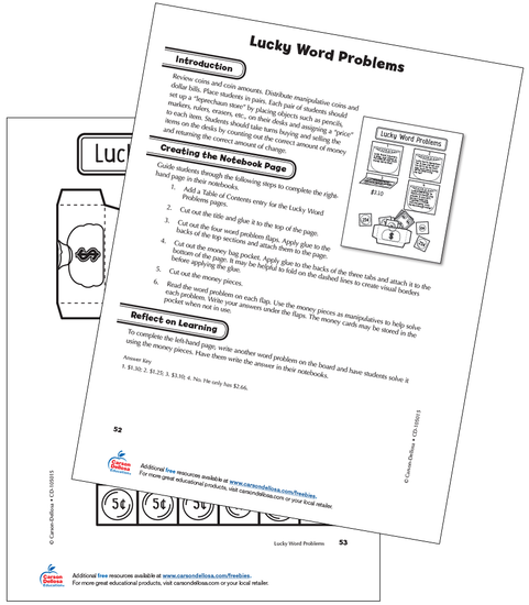 Lucky Word Problems Grade 2 Free Printable