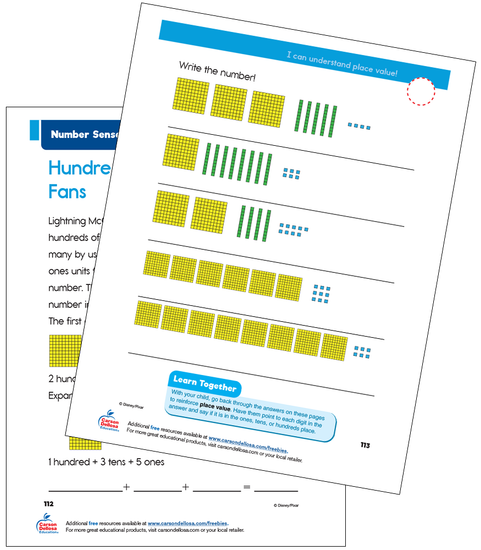 Number Sense: Place Value Disney Learning Free Printable