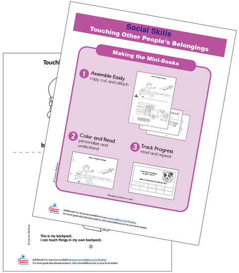 Touching Other People's Belongings Free Printable