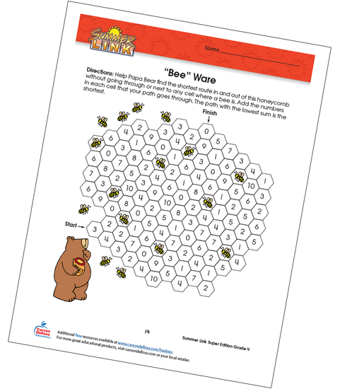 Bee Ware Math Free Printable