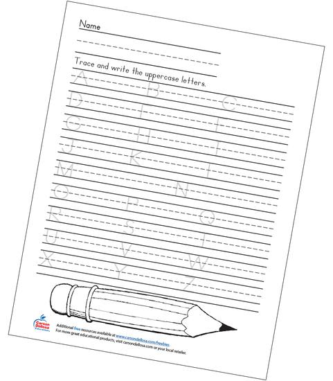 Uppercase Handwriting Grades K-2 Free Printable