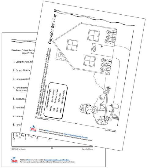 Helping Carl Measure Grades 2-3 Free Printable
