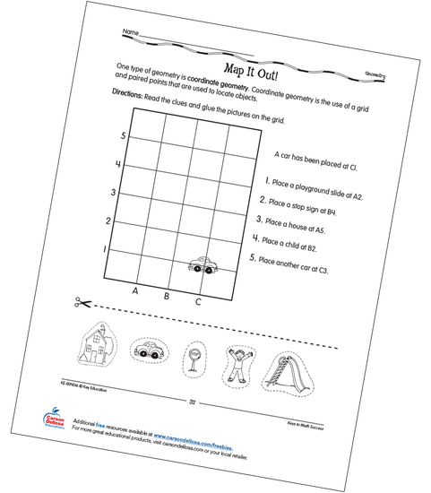Map It Out! Grades 2-3 Free Printable