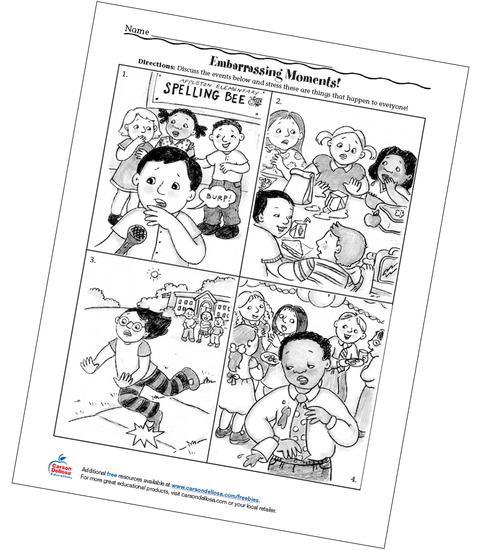 Embarrassing Moments! Grades PreK-2 Free Printable
