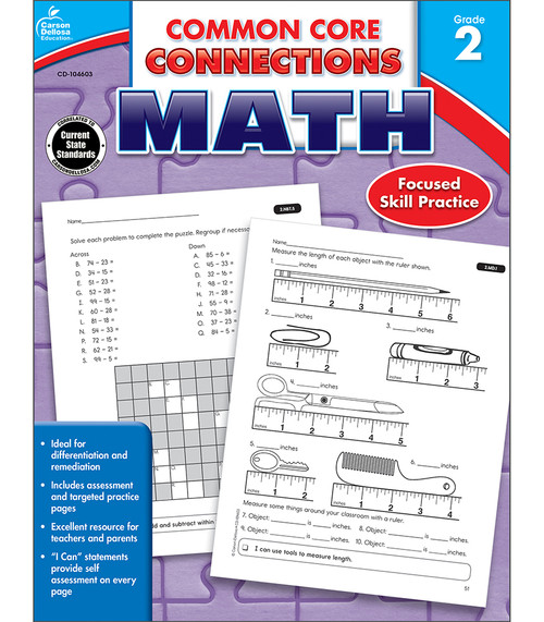 Carson-Dellosa Common Core Connections Math, Grade 2 Teacher
