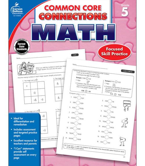 Carson-Dellosa Common Core Connections Math, Grade 5 Teacher