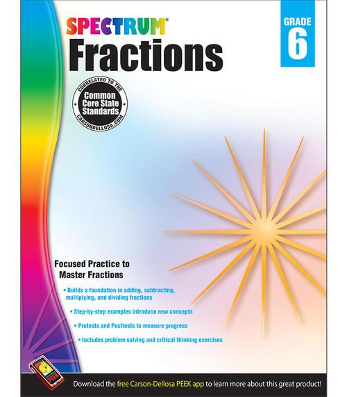 Spectrum® Fractions Workbook, Grade 6 Parent