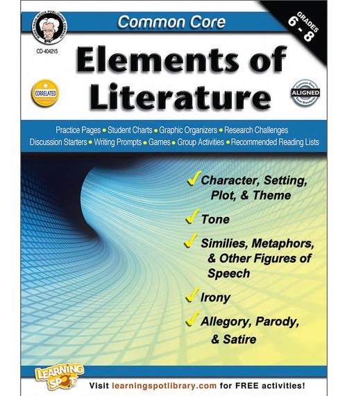 Mark Twain Common Core: Elements of Literature, Grades 6 - 8 Teacher