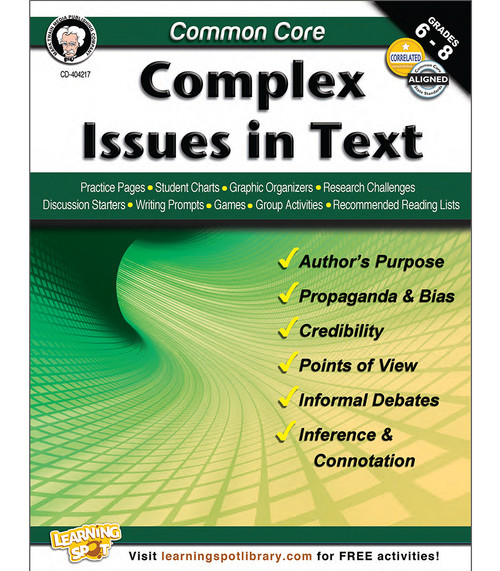 Mark Twain Common Core: Complex Issues in Text Teacher