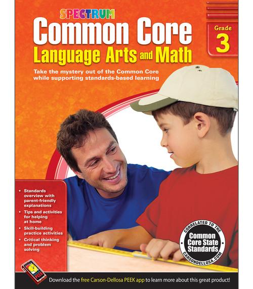 Spectrum® Common Core Language Arts and Math, Grade 3 Parent