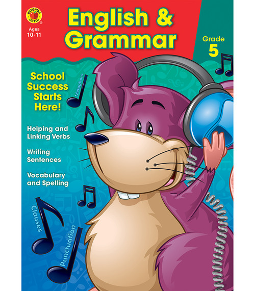 Brighter Child® English & Grammar Workbook, Grade 5 Parent