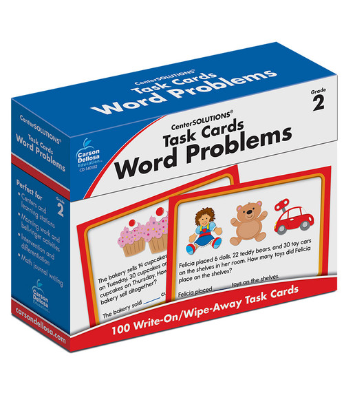 Carson-Dellosa Task Cards: Word Problems, Grade 2 Teacher