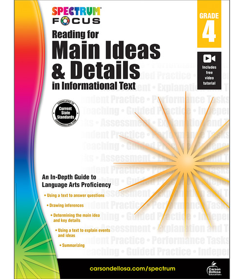Spectrum® Spectrum Reading for Main Ideas and Details in Informational Text, Grade 4 Parent