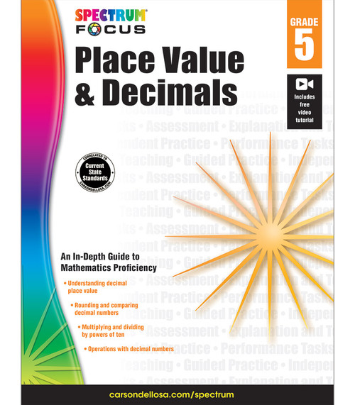Spectrum® Spectrum Place Value and Decimals, Grade 5 Parent
