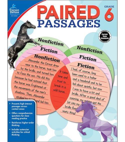 Carson-Dellosa Paired Passages, Grade 6 Teacher