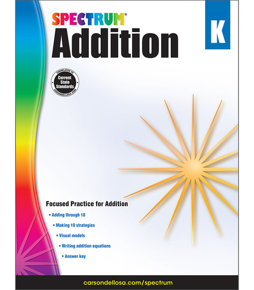 Spectrum® Addition, Grade K Parent