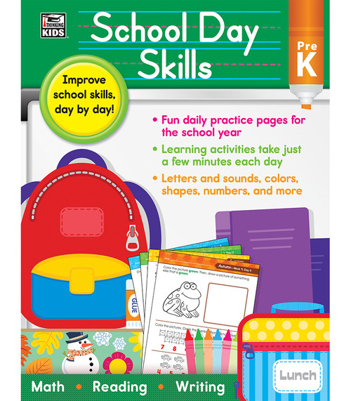 Thinking Kids® School Day Skills, Grade PK Parent