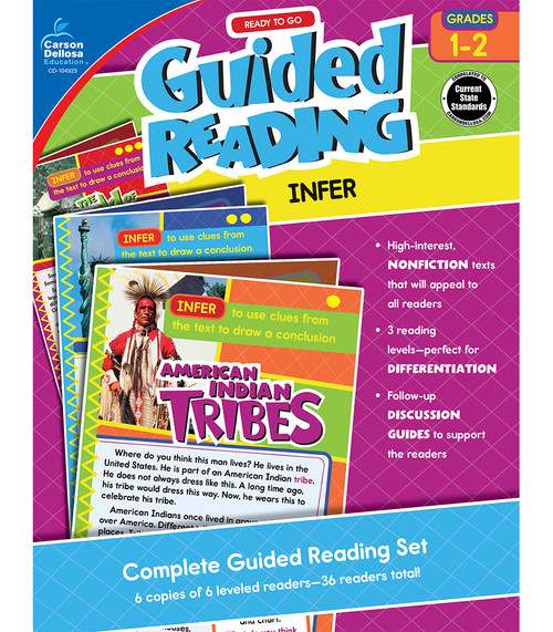 Carson-Dellosa Ready to Go Guided Reading: Infer, Grades 1 - 2 Teacher