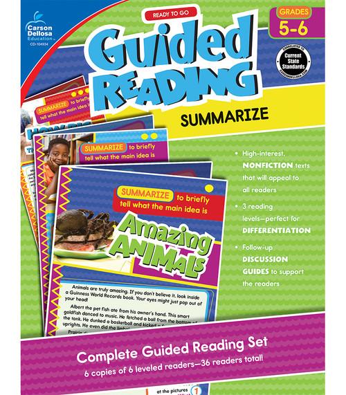 Carson-Dellosa Ready to Go Guided Reading: Summarize, Grades 5 - 6 Teacher