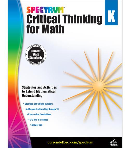 Spectrum® Spectrum Critical Thinking for Math, Grade K Parent