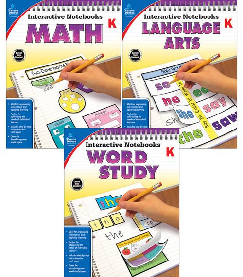 Carson-Dellosa Interactive Notebooks Math, Language Arts & Word Study Bundle Grade K Teacher
