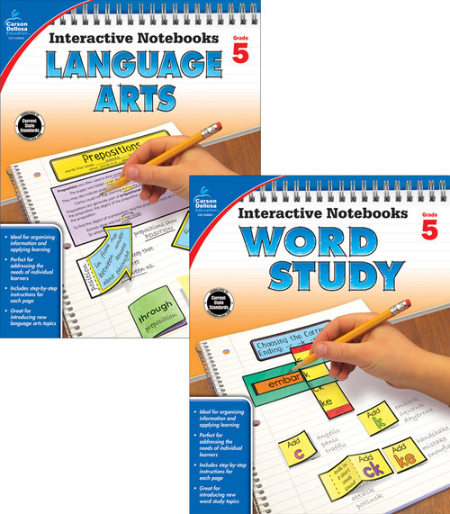 Carson-Dellosa Interactive Notebooks Language Arts & Word Study Bundle Grade 5 Teacher