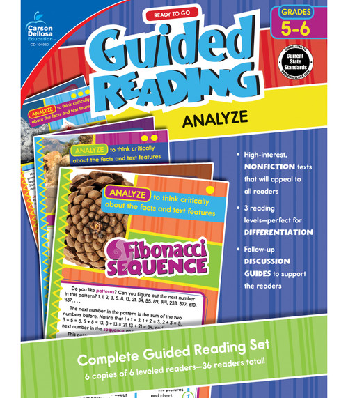 Carson-Dellosa Ready to Go Guided Reading: Analyze, Grades 5 - 6 Teacher