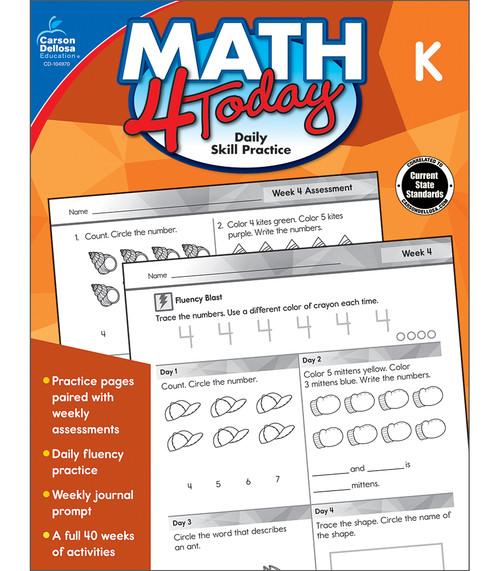 Carson-Dellosa Math 4 Today, Grade K Teacher