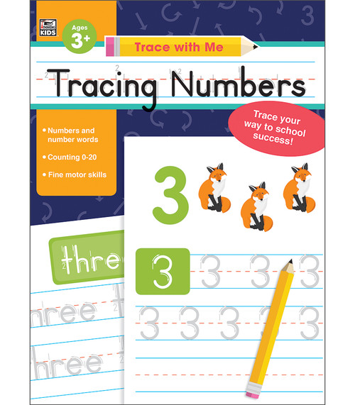 Thinking Kids® Trace with Me Tracing Numbers Parent