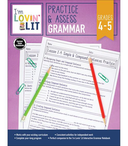Carson-Dellosa I'm Lovin' Lit Practice & Assess: Grammar, Grades 4 - 5 Teacher