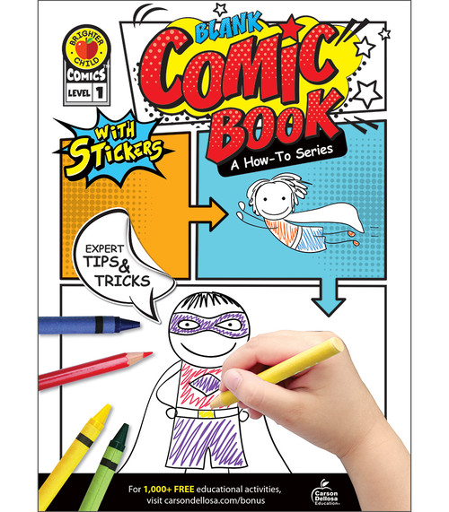 Brighter Child® Blank Comic Book: A How-To Series Level 1 Parent
