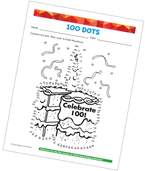 100 Dots (Connect the Dots) Grade 5 Free Printable Activity