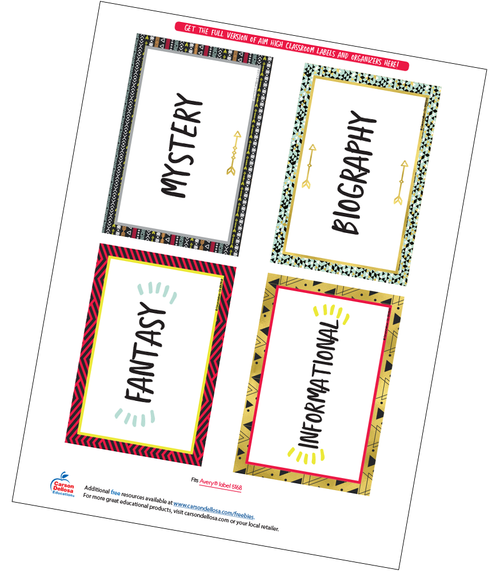 Aim High Classroom Library Labels Free Printable