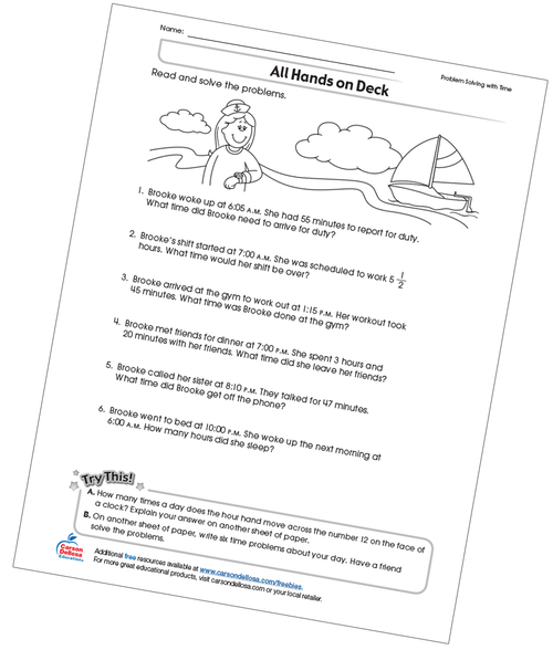 All Hands on Deck Free Printable