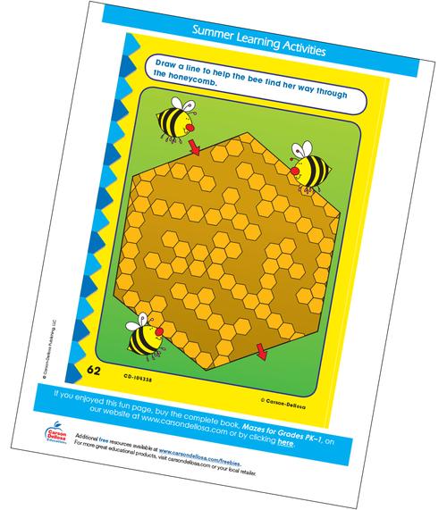 Bee Maze Free Printable