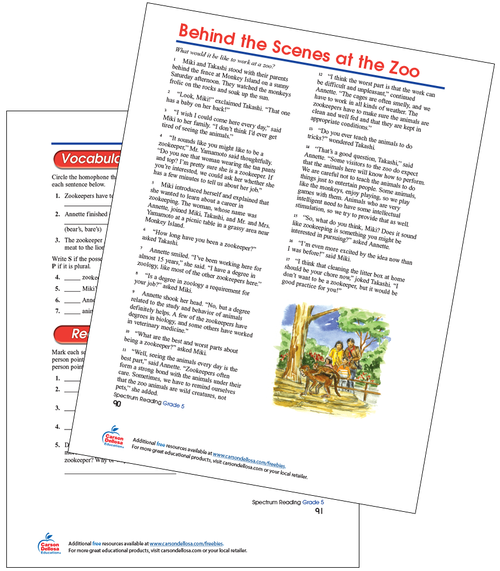 Behind The Scenes At The Zoo Free Printable Sample Image