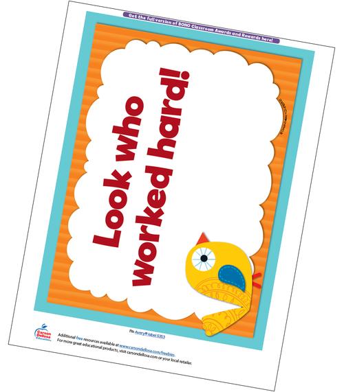 Boho Birds Full Page Certificate Free Printable Sample Image