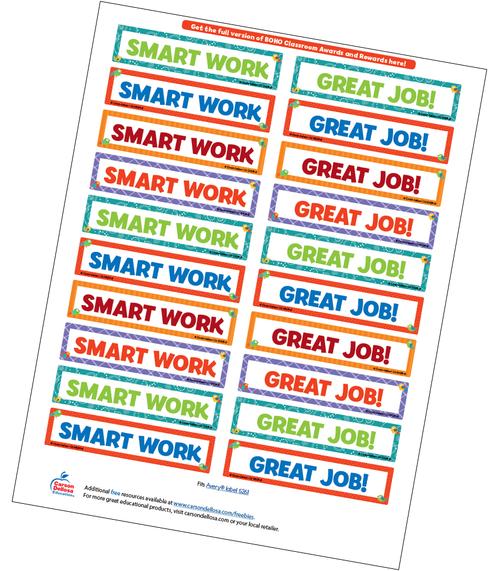 Boho Birds Motivational Word Stickers Free Printable Sample Image