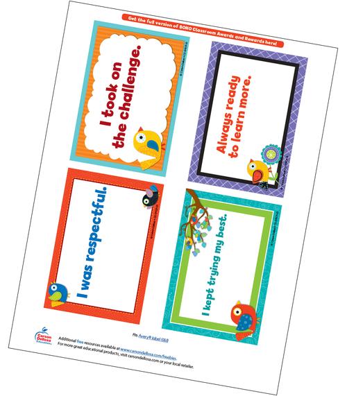 Boho Birds Quarter Page Certificate Free Printable Sample Image