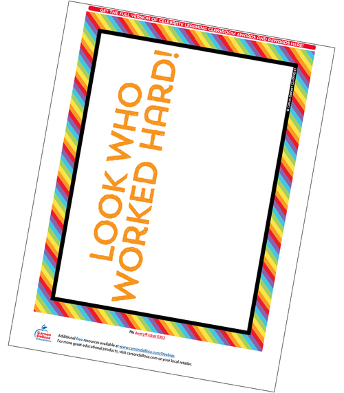 Celebrate Learning Full Page Certificate Free Printable Sample Image