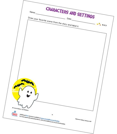 Characters and Settings Free Printable Sample Image