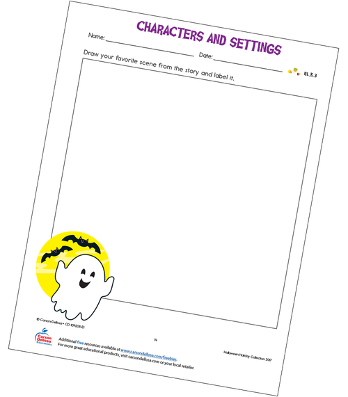 Characters and Settings Free Printable Activity