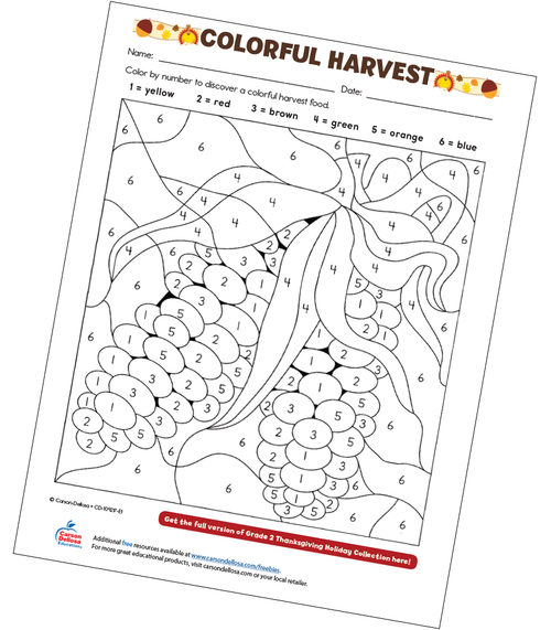 Colorful Harvest Free Printable Sample Image