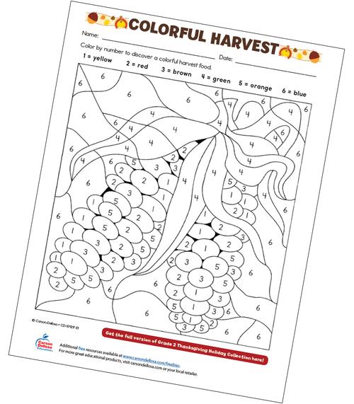 Colorful Harvest Free Printable Sample Image