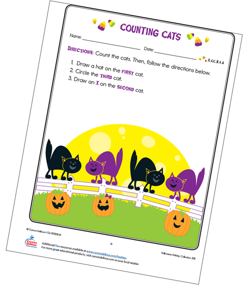 Counting Cats Free Printable Sample Image